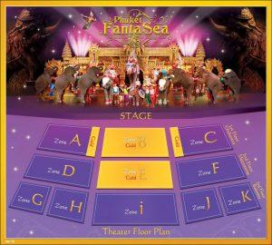phuket fantasea gold seat